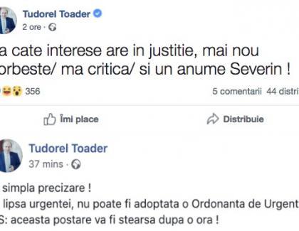 Tudorel a început săse certe pe Facebook cu penalii Dragnea și Severin.Sigur a dat o turăpe litoral!
