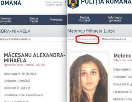 """Alexandra şi Luiza apar pe site-ul Poliţiei Române la secţiunea cu infractori periculoşi. Să-l pună și pe criminal la """"colaboratori apropiați"""""""