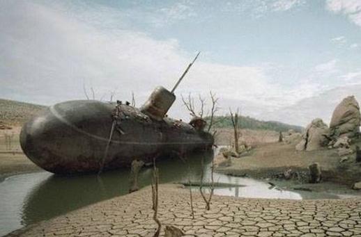 Catastrofă: Un submarin s-a prăbușit la Caracal! Apoi s-a răsturnat!