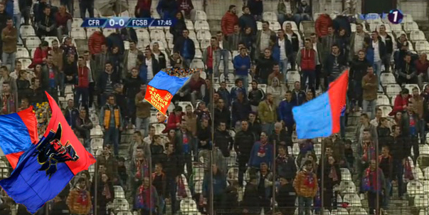 500 de suporteri FCSB în tribune la Cluj. Restul până la 5.000 sunt încă blocați în trafic la ieșirea din București