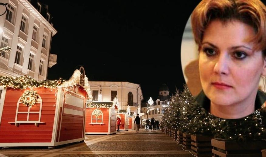 Târgul de Crăciun al Olguței Vasilescu,închis după o oră de la deschidere deoarece Claudiu Manda e un analfabet!