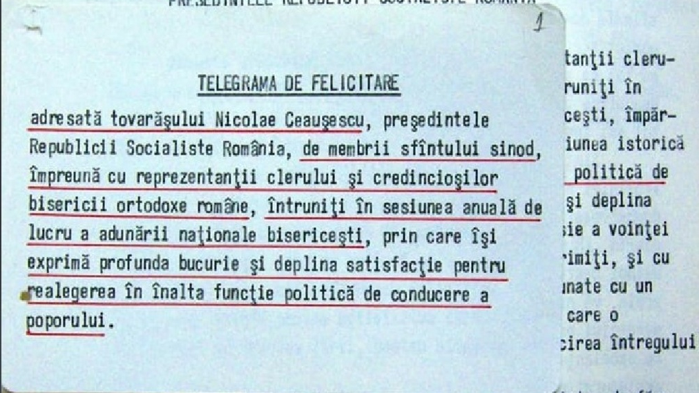 Cum îl felicita BOR pe Ceauşescu în decembrie 1989, în timp ce la Timişoara mureau oameni!