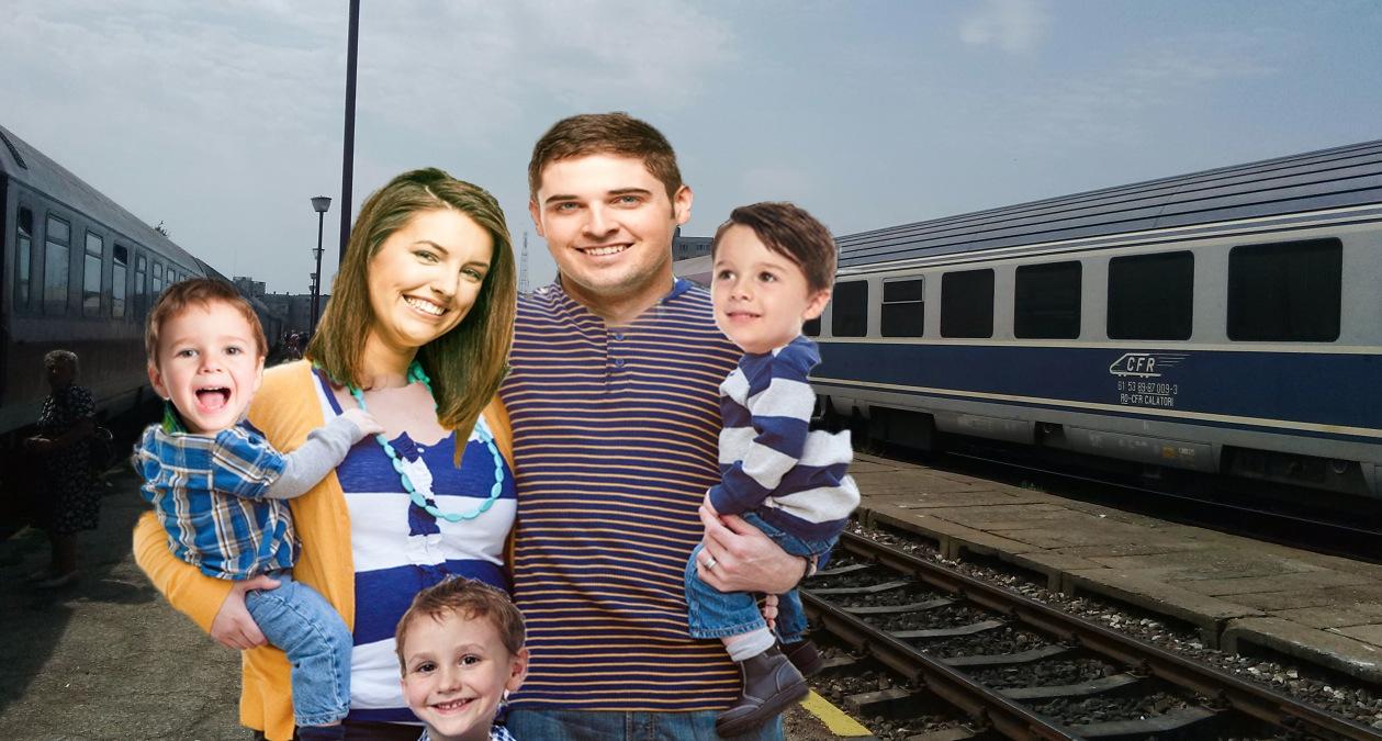 Doi tineri care s-au cunoscut în trenul Timișoara-Mangalia laCraiova s-au căsătorit la București și la Fetești aveau 3 copii!