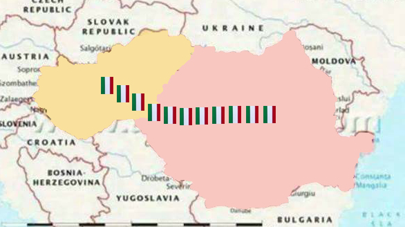 Pentru ăia cu autonomia: v-am pus steagul ungurescpână la Budapesta. Acum știți drumul spre casă!