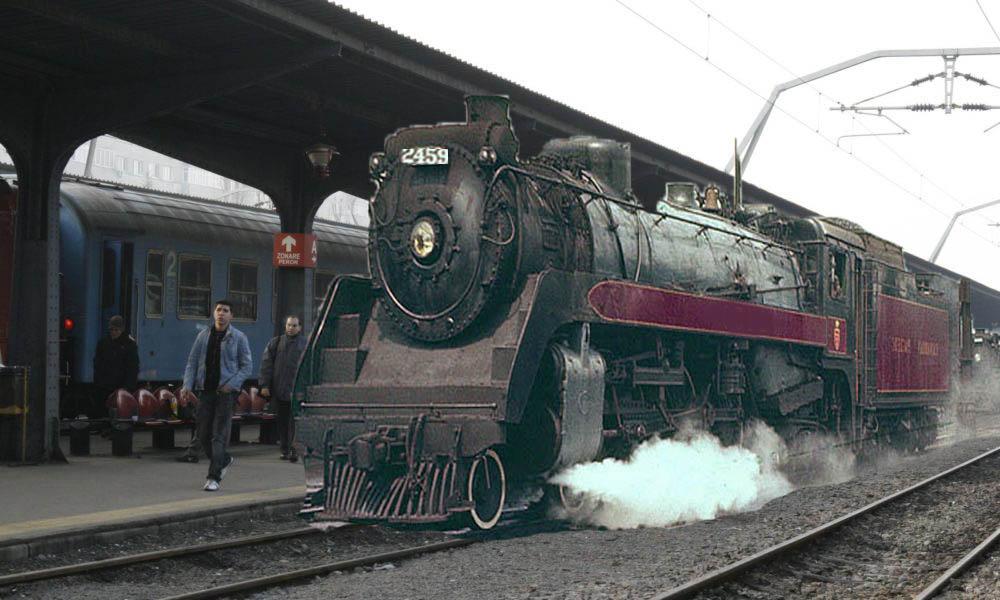 În Gara de Nord a sosit un tren întârziat din Al Doilea Război Mondial!