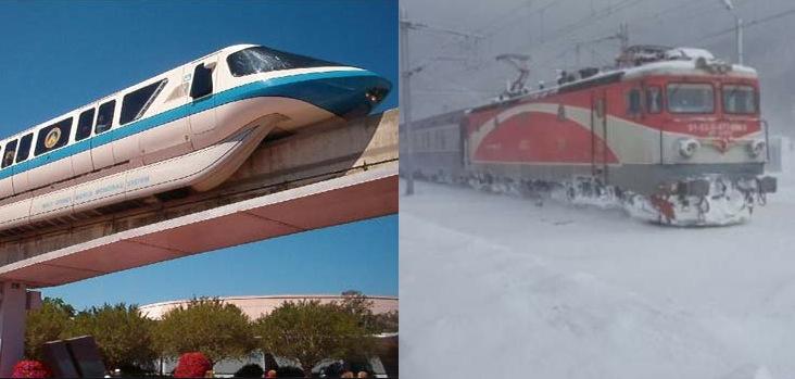 România a devenit prima țară din lume care are mai multe trenuri suspendate decât Japonia!