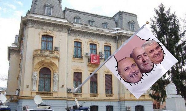 La sediul PSD a fost arborat tricoiul!