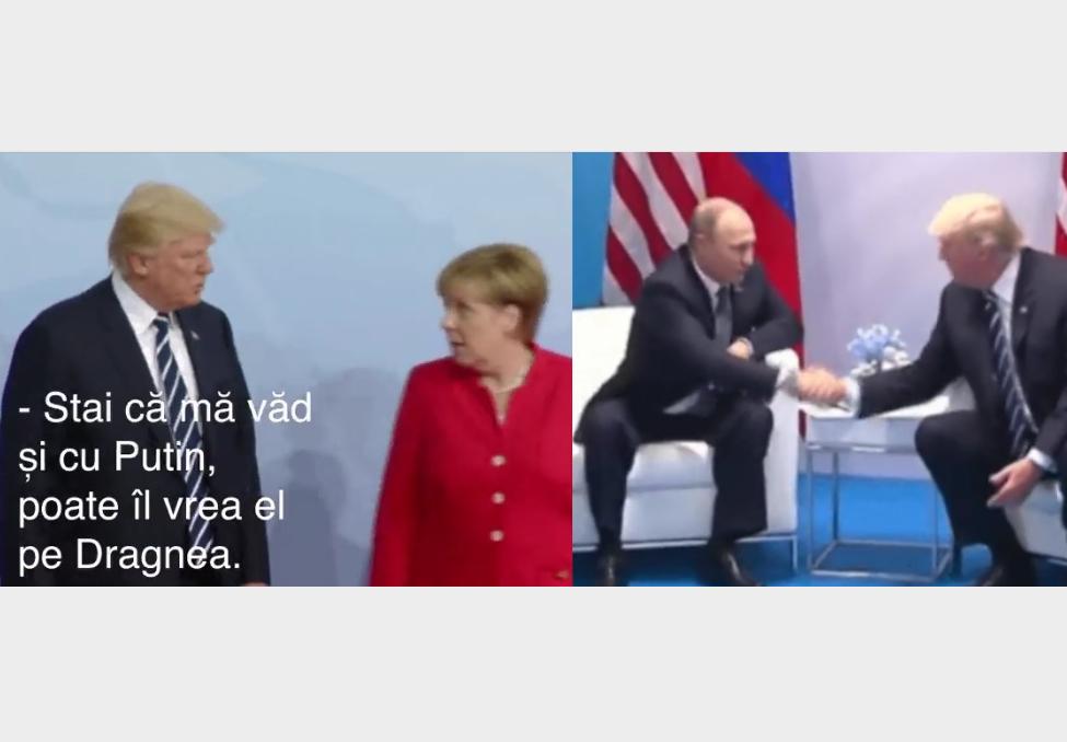 Trump și Merkel i-au dat România lui Putin ca să scape de Dragnea! Avem video!