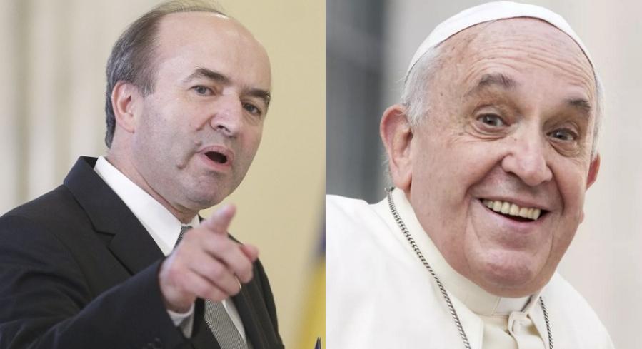Tudorel nu se oprește cu iepurările: îl ievaluează și pe Papa Francisc!
