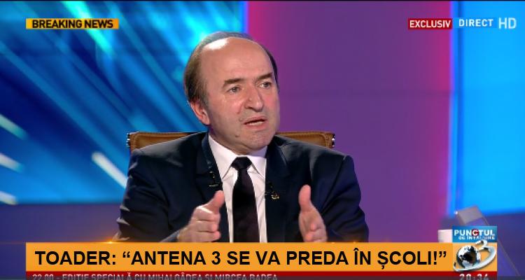 Tudorel Toader are încă un proiect de lege: Antena 3 va fi obligatorie în școli!