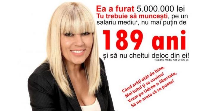 Trebuie să muncești 189de ani ca să câștigi cât a furat Udrea. Hai, la muncă toată lumea, că anii trec!