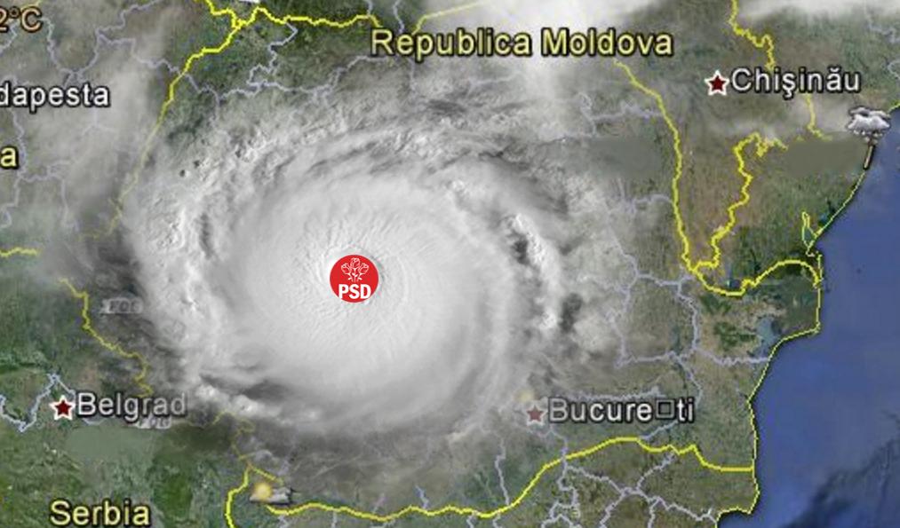 Alertă meteo: Uraganul PSD a distrus toată România!
