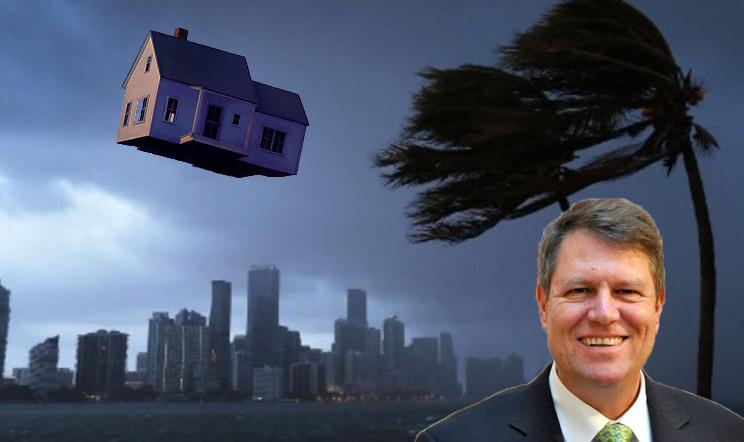 Ni se întorc valorile: un uragan i-a luat lui Iohannis casa din Miami și i-a mutat-o în Sibiu!