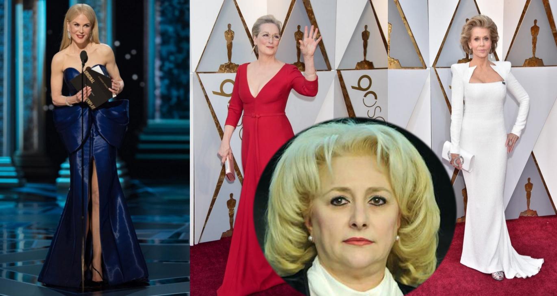 """Viorica Dăncilă critică ținutele actrițelor de la Oscar: """"Niște țărănci! Una nu a avut rochie model draperie!"""""""