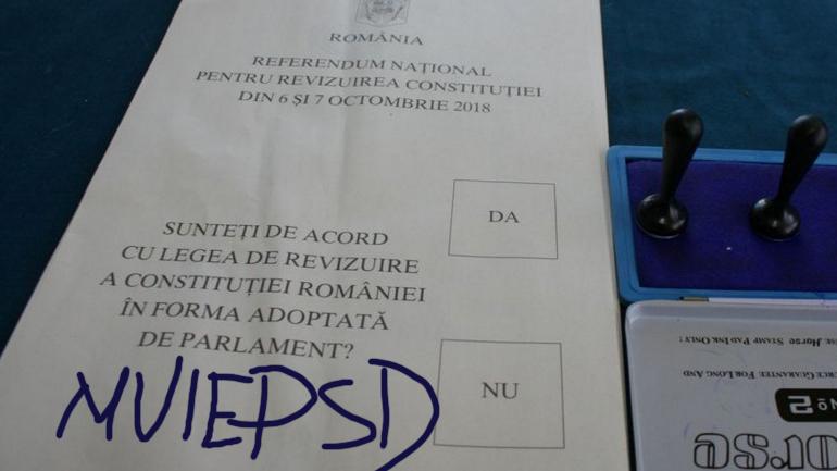 50% dintre buletinele de vot au fost anulate pentru că pe ele scria M_IEPSD!